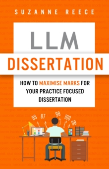 Book cover, which features an orange background and a student sitting at a desk facing away from the viewer. Visible on the desk are a laptop and many open books, and there are number hovering around the student's head, implying they are surrounded by research data.