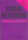 Verbal Reasoning : Technique and Practice No. 2 - Book