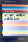 Altruism, Welfare and the Law - eBook