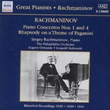 RACHMANINOV - PIANO CONCERTOS NOS. 1 AND 4 - RHAPSODY ON A THEME, CD / Album Cd
