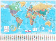 Collins World Wall Paper Map, Sheet map, flat Book