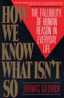 How We Know What Isn't So, Paperback Book