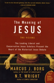 The Meaning of Jesus : Two Visions, Paperback Book