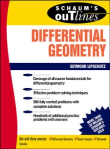 Schaum's Outline of Differential Geometry, Hardback Book