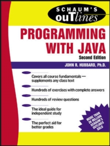 Schaum's Outline of Programming with Java, Paperback Book