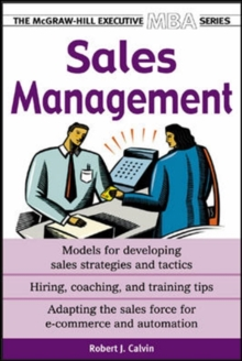 Sales Management, Paperback Book