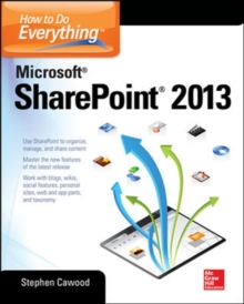 How to Do Everything Microsoft SharePoint, Paperback Book