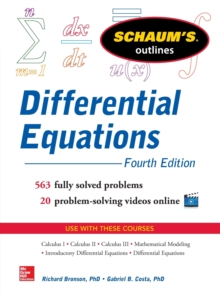 Schaum's Outline of Differential Equations, Paperback Book