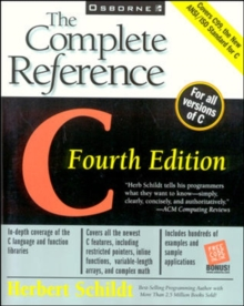 C : The Complete Reference, Paperback Book