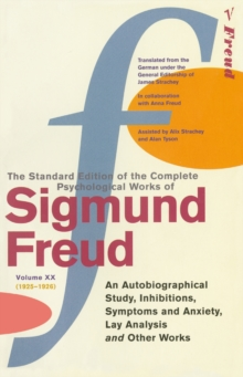 Complete Psychological Works of Sigmund Freud, The Vol 20, Paperback Book