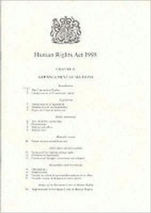 Human Rights Act, 1998, Paperback Book