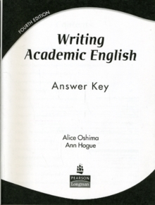Writing Academic English : Answer Key, Paperback Book