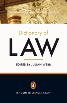 The Penguin Dictionary of Law, Paperback Book