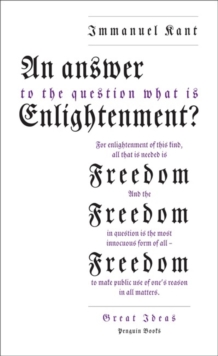 An Answer to the Question: 'What is Enlightenment?', Paperback Book