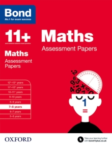 Bond 11+: Maths: Assessment Papers : 7-8 Years, Paperback Book