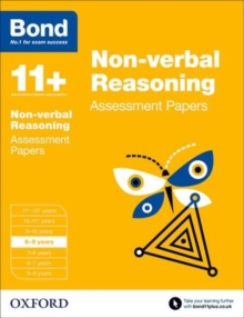 Bond 11+: Non-verbal Reasoning: Assessment Papers : 8-9 years, Paperback Book