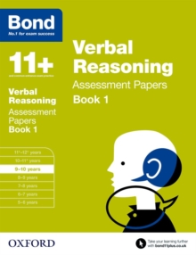Bond 11+: Verbal Reasoning: Assessment Papers : 9-10 Years Book 1, Paperback Book