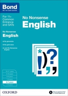 Bond: English: No Nonsense : 6-7 Years, Paperback Book