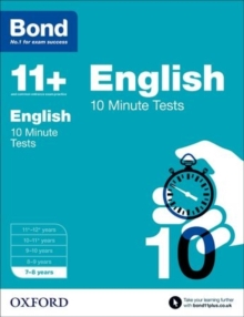 Bond 11+: English: 10 Minute Tests : 7-8 Years, Paperback Book