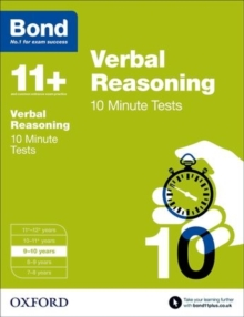 Bond 11+: Verbal Reasoning: 10 Minute Tests : 9-10 Years, Paperback Book