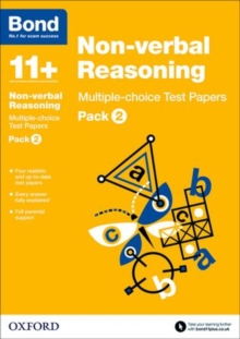 Bond 11+: Non-verbal Reasoning: Multiple-choice Test Papers : Pack 2, Paperback Book
