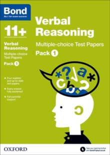 Bond 11+: Verbal Reasoning: Multiple-choice Test Papers : Pack 1, Paperback Book