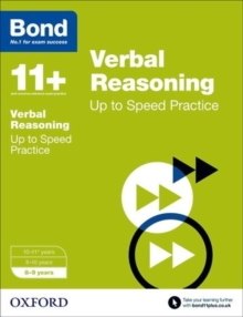 Bond 11+: Verbal Reasoning: Up to Speed Papers : 8-9 Years, Paperback Book