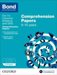 Bond 11+: English: Comprehension Papers : 9-10 Years, Paperback Book