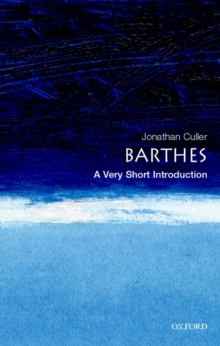 Barthes: A Very Short Introduction, Paperback Book