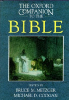 The Oxford Companion to the Bible, Hardback Book