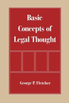 The Basic Concepts of Legal Thought, Paperback Book