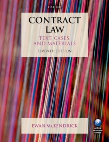 Contract Law : Text, Cases and Materials, Paperback Book