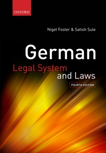 German Legal System and Laws, Paperback Book