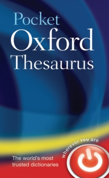 Pocket Oxford Thesaurus, Hardback Book