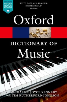 The Oxford Dictionary of Music, Paperback Book