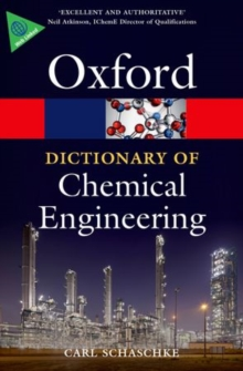 A Dictionary of Chemical Engineering, Paperback Book
