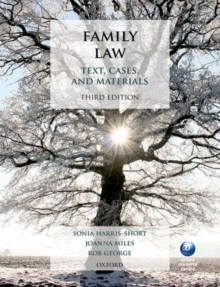 Family Law : Text, Cases, and Materials, Paperback Book
