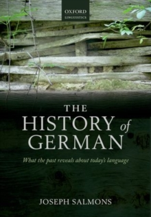 A History of German, Paperback Book