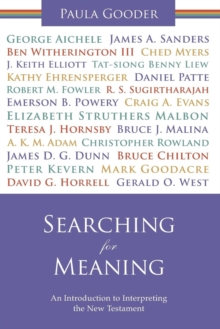 Searching for Meaning : An Introduction to Interpreting the New Testament, Paperback Book