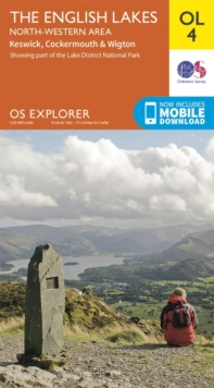 The English Lakes - North-Western Area, Keswick, Cockermouth & Wigton, Sheet map, folded Book