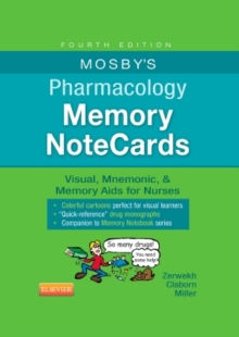 Mosby's Pharmacology Memory NoteCards : Visual, Mnemonic, and Memory Aids for Nurses, Spiral bound Book