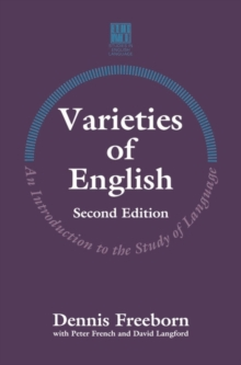 Varieties of English : An Introduction to the Study of Language, Paperback Book