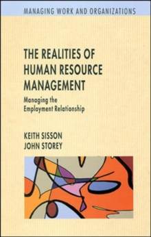 Realities of Human Resource Management, Paperback Book