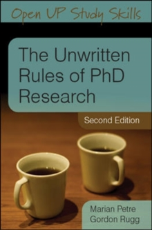 The Unwritten Rules of PhD Research, Paperback Book