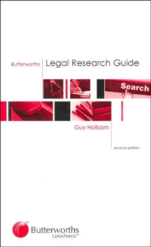 Butterworths Legal Research Guide, Paperback Book