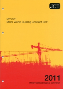 JCT:Minor Works Building Contract 2011, Paperback Book