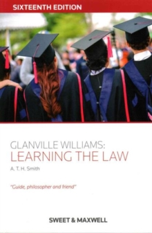 Glanville Williams: Learning the Law, Paperback Book