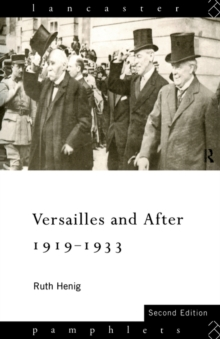 Versailles and After, 1919-33, Paperback Book