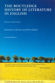 The Routledge History of Literature in English, Paperback Book