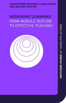 Designing Learning : From Module Outline to Effective Teaching, Paperback Book